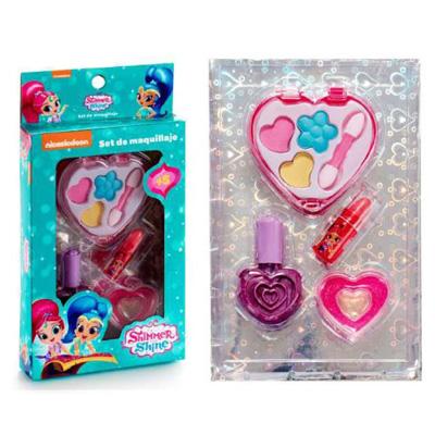 Παιδικό σετ shimmer & shine με κασετίνα καρδιά 4τμχ