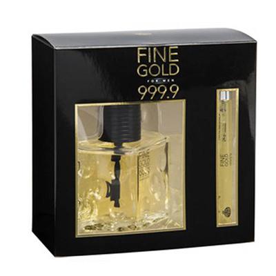 Σετ ανδρικό Fine gold με EDT 100ml & 15ml