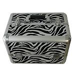 Επαγγελματικό βαλιτσάκι μακιγιάζ αλουμινίου Zebra